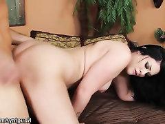 Asian, Big Ass, Cumshot, Ebony