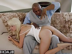 Black, Blonde, Blowjob, Interracial