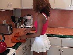 Babe, Kitchen, Webcam, Black