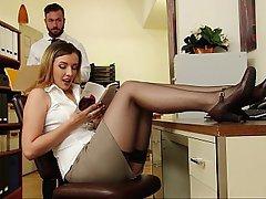 Lingerie, Office, Stockings, Teen