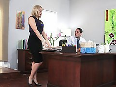 Office, Blonde, MILF