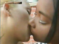 Lesbian, Interracial, Kissing, Black