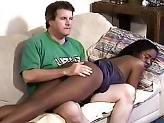 Interracial, Old and Young, Spanking