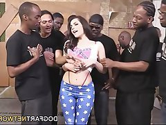 Bukkake, Facial, Gangbang, Interracial